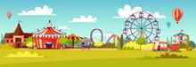 Amusement Park Vector Cartoon ...