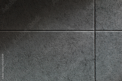 Vászonkép Close up texture of a wall with a grey sound absorbing panel mounted on it