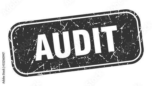 audit stamp. audit square grungy black sign. Canvas Print