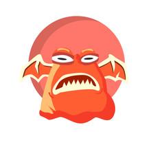 Vector Illustration Of Monster...