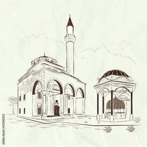 Cuadros en Lienzo Bosnia and Herzegovina Ferhadiye mosque