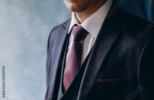 Man in classic suit with tie Fototapeta