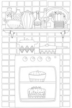 Cozy Homey Kitchen With Cake I...