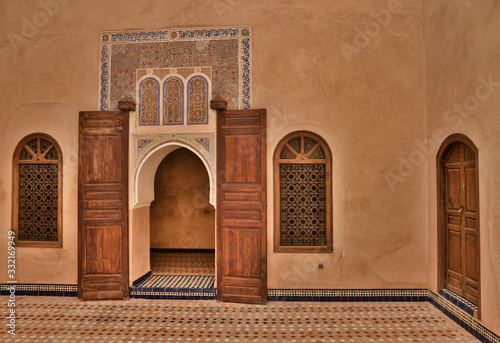 Beautiful part of the Bahia Palace in Marrakech Canvas Print