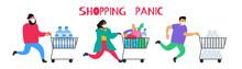 Shopping Panic Running People ...