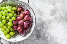 Two Varieties Of Grapes, Red A...