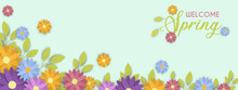 Welcome Spring Season Cute Flo...