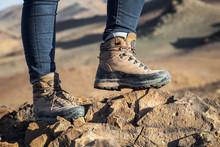 Tourist In Trekking Hiking Boo...