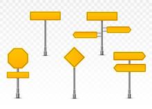 Yellow Street Signs.