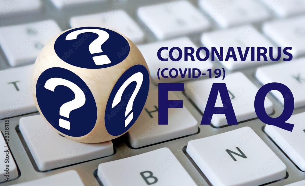 Fototapeta FAQ covid 19
