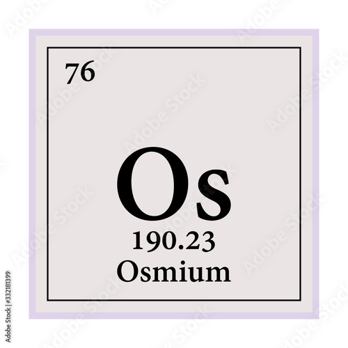Valokuva Osmium Periodic Table of the Elements Vector illustration eps 10