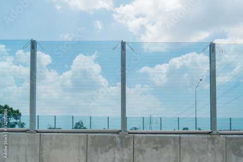 Acrylic Noise Barrier, Transparent Noise Barrier Panels is an exterior structure designed to protect inhabitants of sensitive land use areas from noise pollution Wallpaper Mural