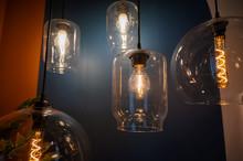 Antique Light Bulbs. Retro Cha...