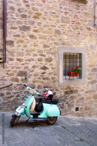 Fototapety, obrazy: Italian Vespa Moped Parked on the Street