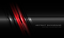 Abstract Red Black Metallic Circuit Line With Blank Space And Simple Text Design Modern Futuristic Technology Background Vector Illustration.