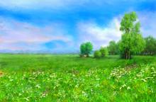 Digital Oil Paintings Landscap...