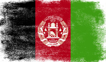 Afghanistan Flag With Grunge T...