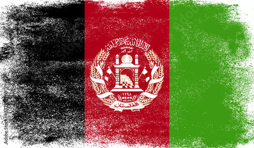 Photo Afghanistan flag with grunge texture