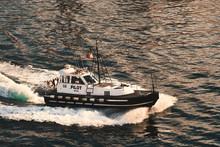 Pilot Boat Approaching Ship In...