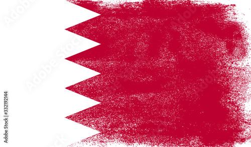 Photo Bahrain flag with grunge texture