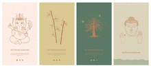 Set Of Abstract Vertical Backg...