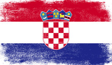Croatia Flag With Grunge Texture