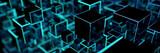 Leuchtende Würfel als moderner digitaler Hintergrund