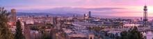 Alba Sul Porto Di Barcellona