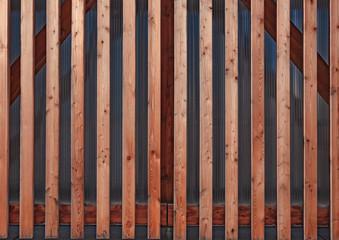Holzfassade aus Leisten