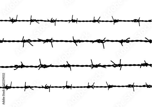 Fotografía silhouette barbed wire background