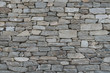 Stone wall texture background - grey stone siding with different sized stones