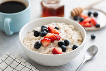 Oatmeal Porridge With Berries,...