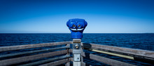 Ocean View With Coin Operated Binoculars