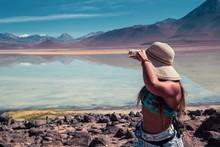 Fit Woman In A Beauty Landscape