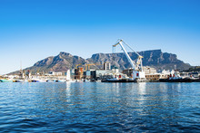 Boat Harbor In Cape Town And T...
