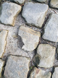 background texture street of cobble stones or paving stones