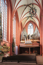 Interior Of Old St Nicholas Church In Frankfurt In Germany
