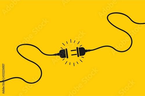 Cuadros en Lienzo Electric socket with a plug