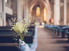 Wedding  Decoration In The Chu...