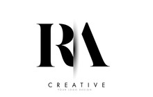RA R A Letter Logo With Creati...