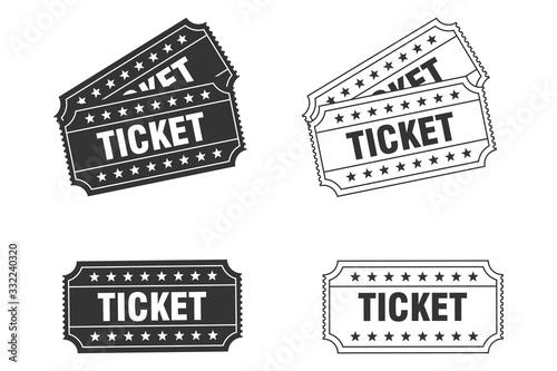 Photo Ticket icon vector
