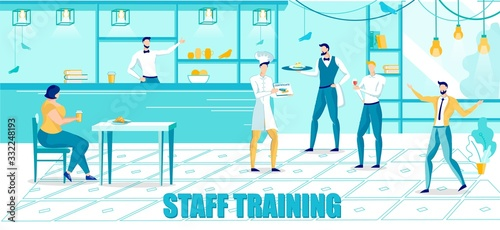 Fototapety, obrazy: Personnel Staff Training for Franchise Business.
