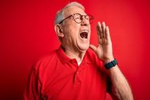 Grey Haired Senior Man Wearing...