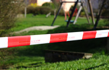 Playground Cordoned Off With A...