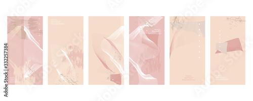 Fotografia, Obraz Elegant natural pastel muted pale calm tones card templates set