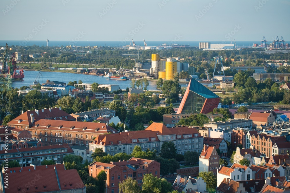 Gdańsk Polska panorama Gdańska <span>plik: #332261785 | autor: Arko6565</span>