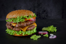 Burger With Two Beef Patties A...