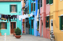 Cityscape Of Colorful Houses I...