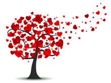 Beautiful Love Tree With Flyin...
