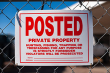Posted Private Property Sign W...